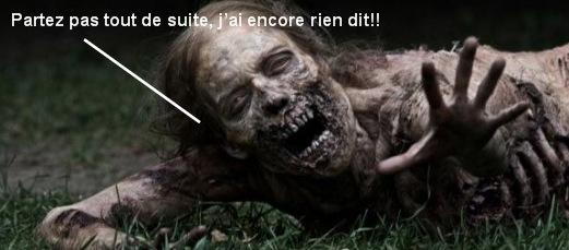 Zombie à terre