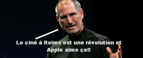 Steve Jobs kiffe Reims
