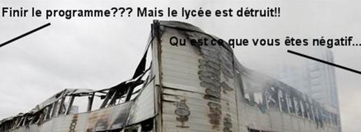 Lycée détruit