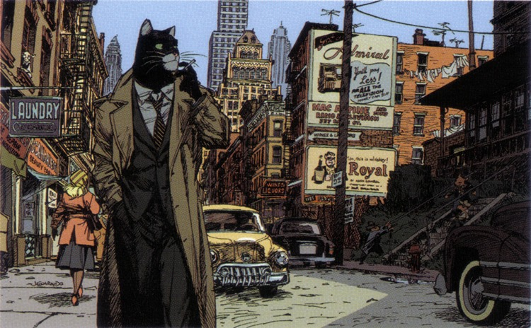 bande dessinee chat detective